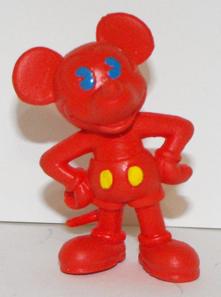 Red Mickey Mouse 2 inch Plastic Figurine