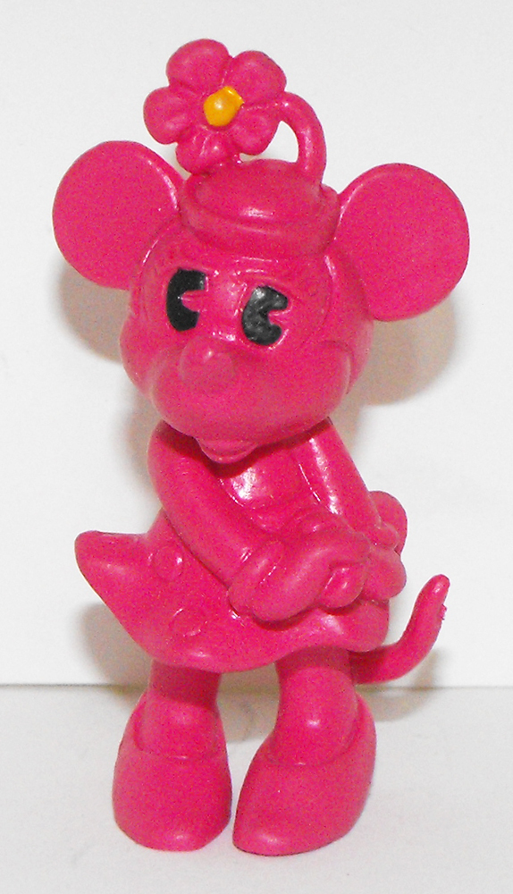 Dark Pink Minnie Mouse 2 inch Figurine