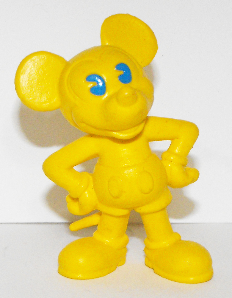 Yellow Mickey Mouse 2 inch Plastic Figurine
