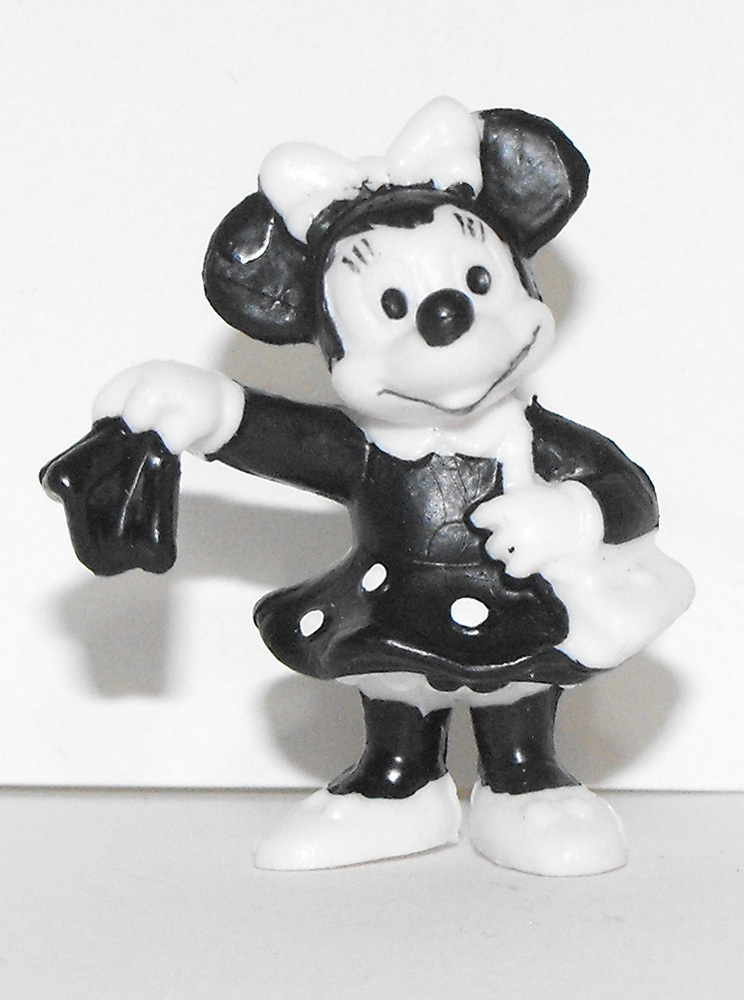 Minnie Mouse Black and White 1 inch Figure