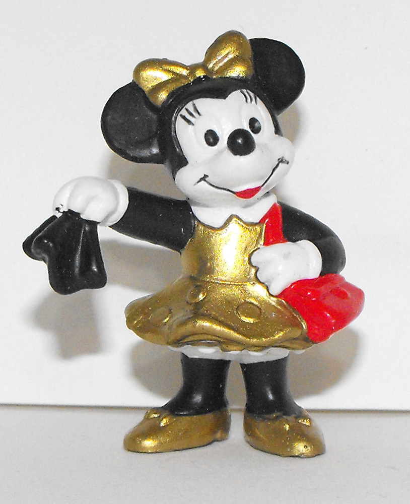 Minnie Mouse in Gold Dress 1 inch Figure