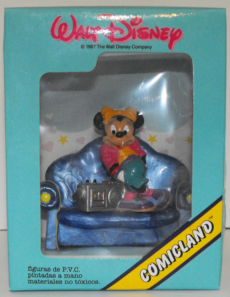Minnie Mouse with Boombox Plastic Figure on Couch