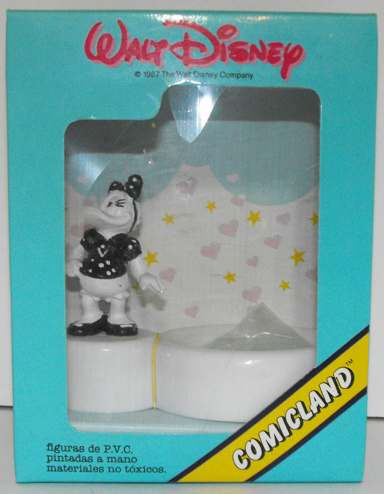 Black and White Daisy Duck Plastic Figurine on Paper Clip Holder