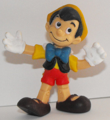 Pinocchio as a Real Boy Plastic Figurine