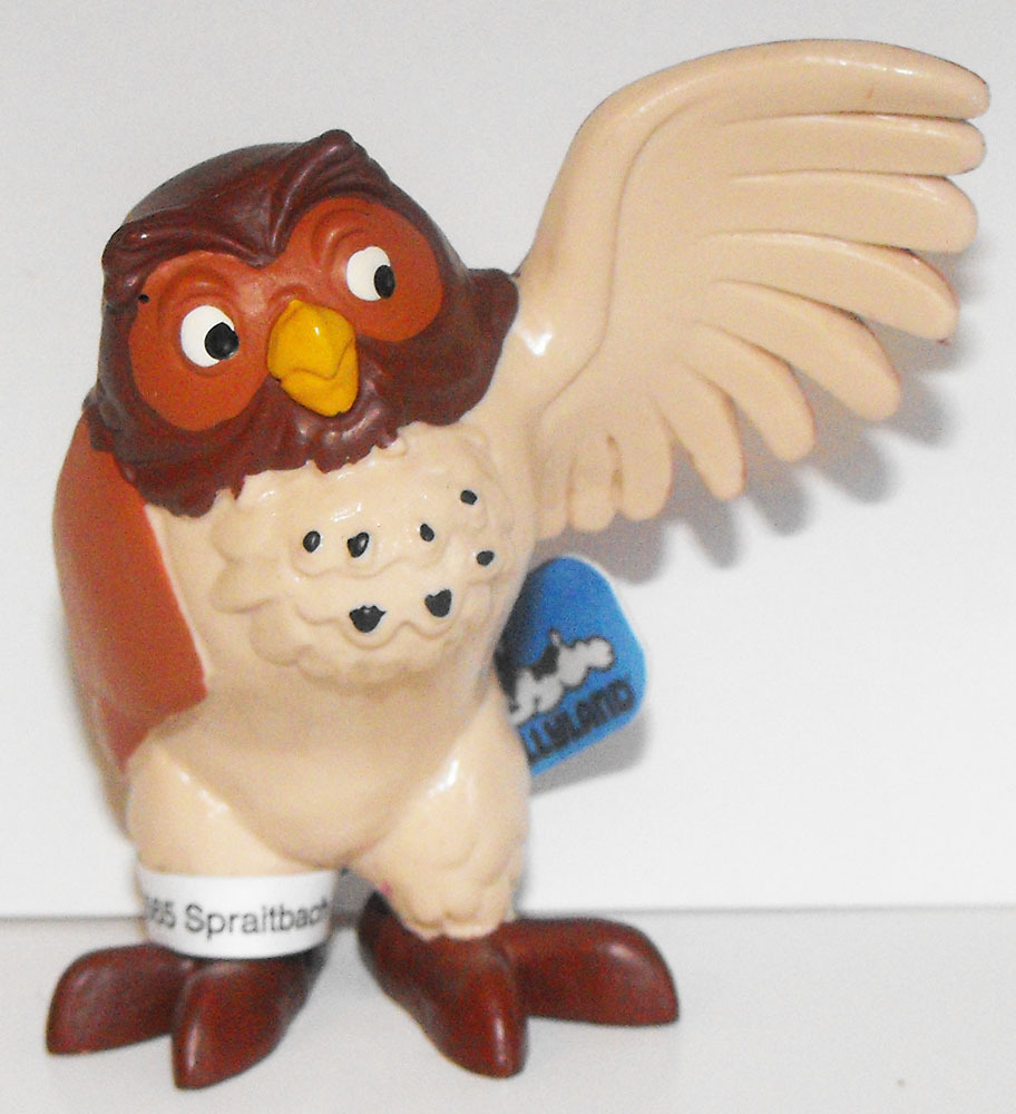 Owl Pointing - Winnie the Pooh Plastic Figurine Disney Miniature Figure
