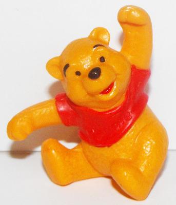 Winnie the Pooh Sitting Plastic Plastic Figurine Disney Miniature Figure