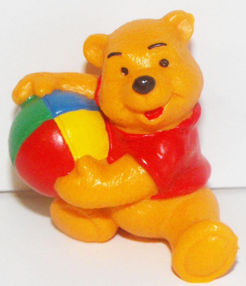 Winnie the Pooh with Beach Ball Plastic Figurine Disney Miniature Figure