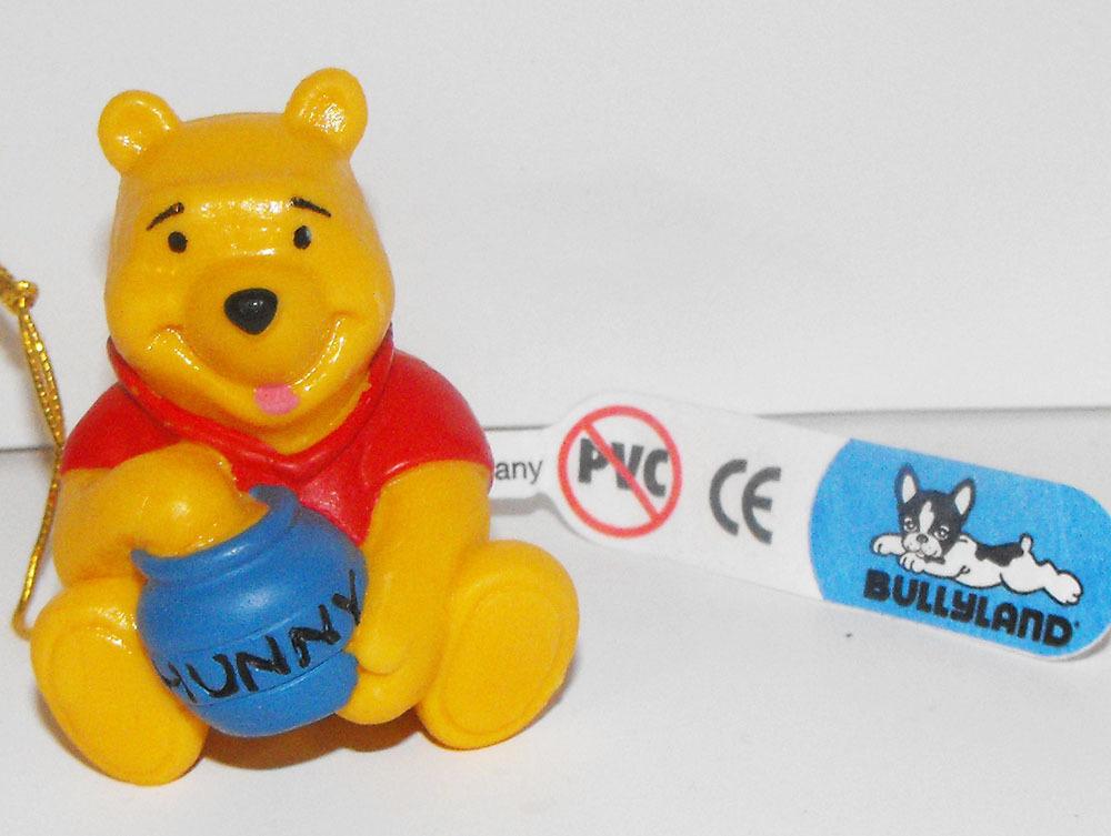 Winnie the Pooh Sitting with Honey Pot Plastic Figurine Miniature Figure