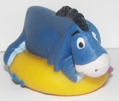 Eyeore on Swimming Tube Disney Figurine Floats on Water Bath Tub Toy