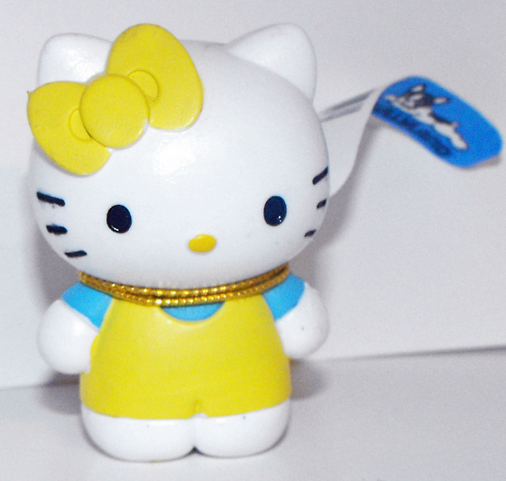 Hello Kitty Yellow Outfit 2 inch Plastic Figurine Sanrio Figure