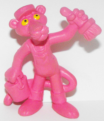 Pink Panther the Painter Pink 2 inch Figurine