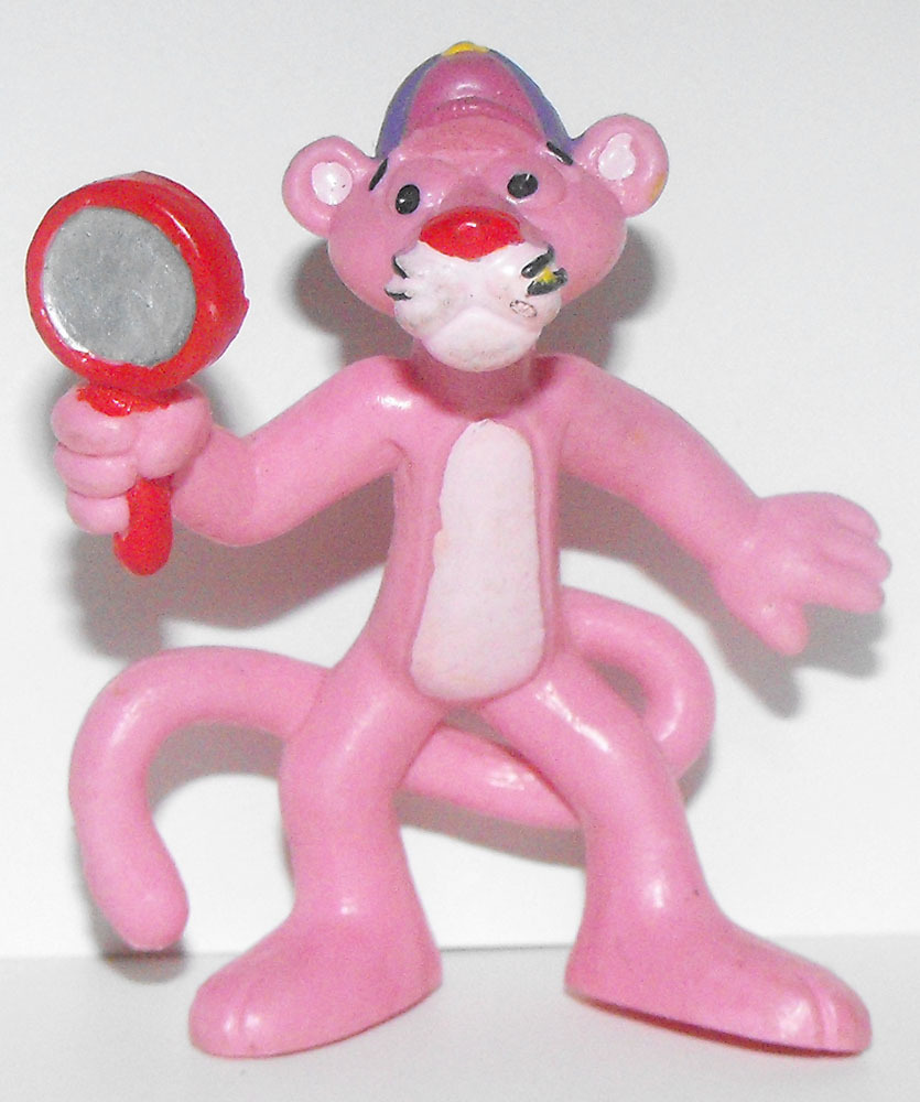 Pink Panther with Magnifying Glass 2 inch Figurine