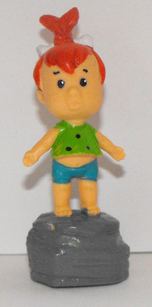 Pebbles Flintstones on Stone Figurine 2 1/2 Plastic Figure