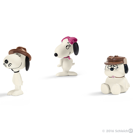 Snoopy Siblings Set of 3 Peanuts Figurines Miniature Figures