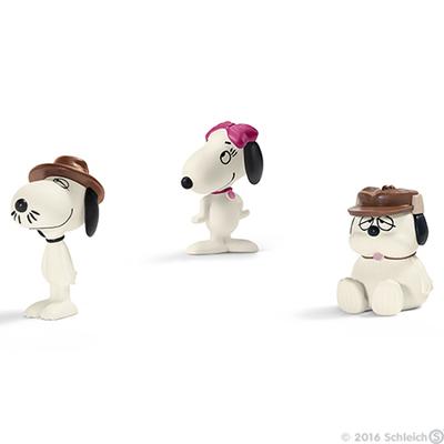 Snoopy Siblings Set of 3 Peanuts Figurines Miniature Figures