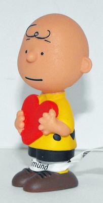 Valentine's Day Charlie Brown Figurine Peanuts Miniature Figure