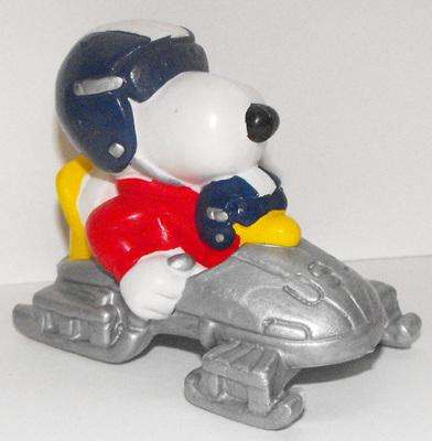 Bobsled Snoopy & Woodstock Olympic 2 inch Peanuts Miniature Figure