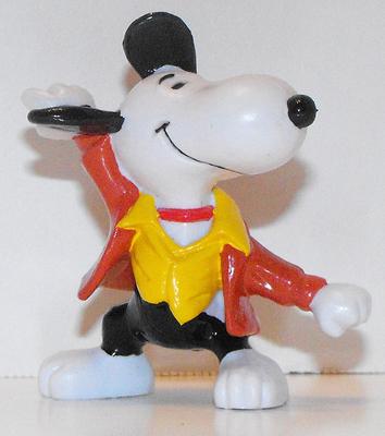 Disco Dancing Snoopy 2 inch Figurine Peanuts Miniature Figure