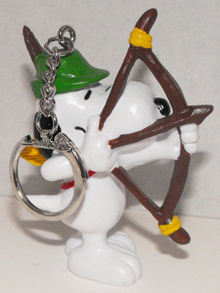 Archer Snoopy 2 inch Figurine Keychain Peanuts Miniature Figure Key Chain