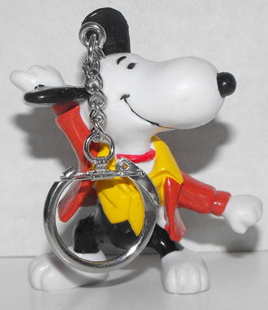 Disco Dancing Snoopy 2 inch Figurine Keychain Peanuts Miniature Figure Key Chain