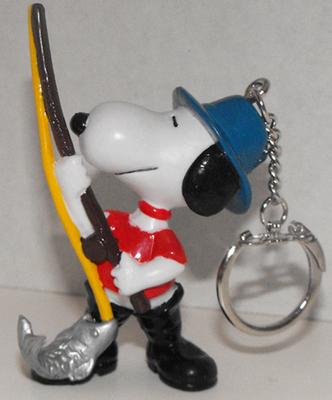 Fishing Snoopy 2 inch Figurine Keychain Peanuts Miniature Figure Key Chain