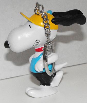 Running Snoopy (blue shirt) Figurine Keychain Peanuts Miniature Figure Key Chain