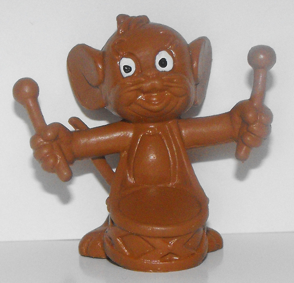 Jerry with Drum All Brown Plastic Figurine