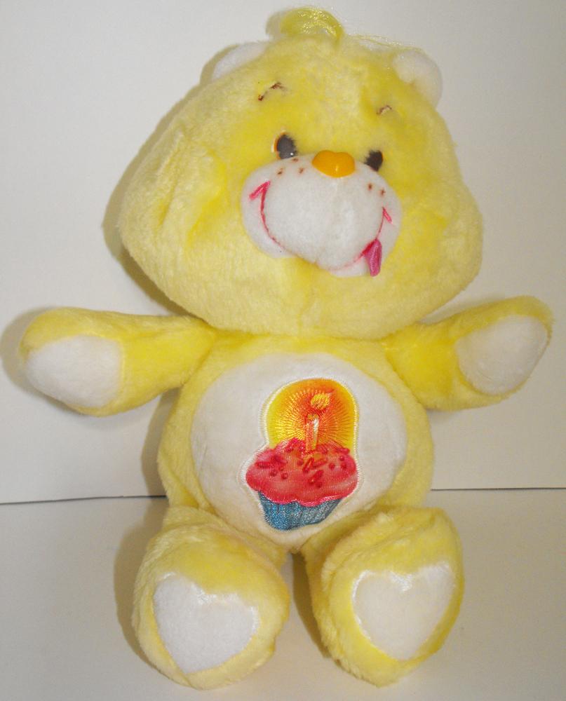 Birthday Bear 13 inch Vintage Plush Care Bears Stuffed Animal