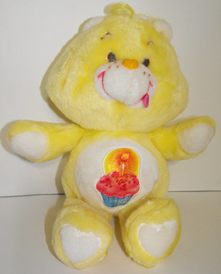Birthday Bear 13 inch Vintage Plush Care Bears Stuffed Animal