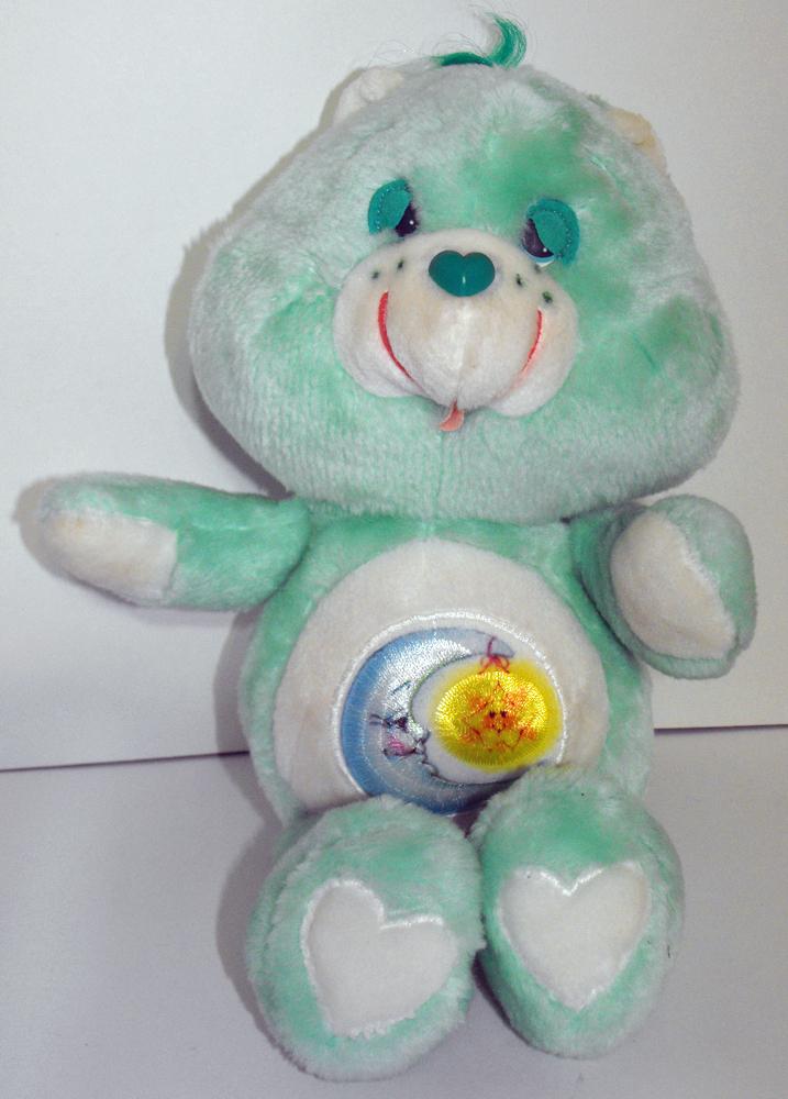 Bedtime Bear 13 inch Vintage Plush Care Bears Stuffed Animal