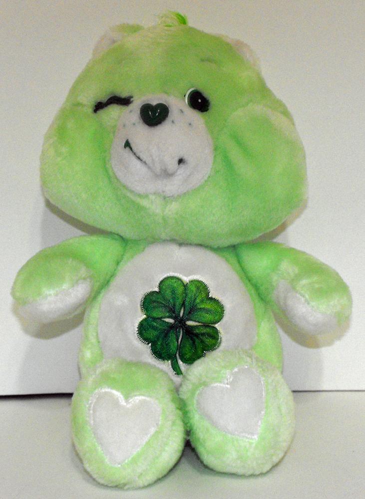 Good Luck Bear 13 inch Vintage Plush Care Bears Stuffed Animal