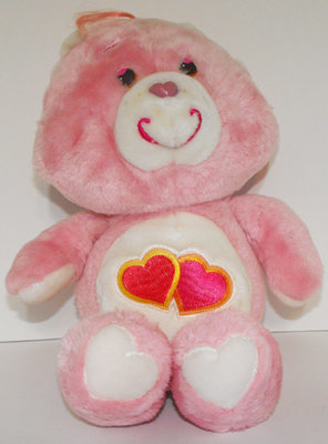 Love-a-Lot Bear 13 inch Vintage Plush Care Bears Stuffed Animal