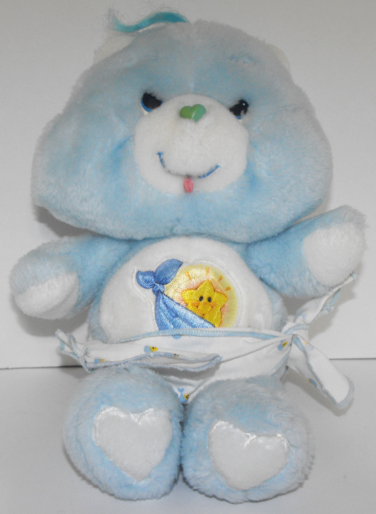 Tugs Blue Baby 11 inch Vintage Plush Care Bears Stuffed Animal