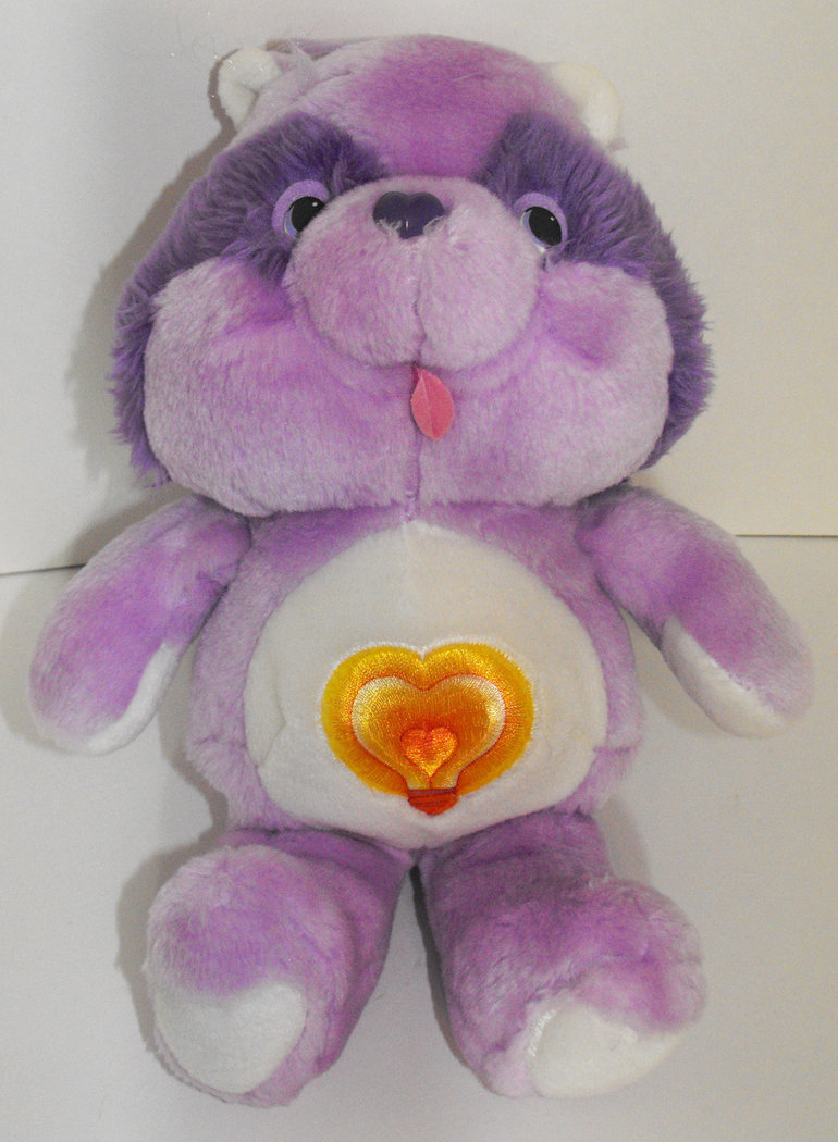 Bright Heart Racoon 13 inch Vintage Plush Stuffed Animal