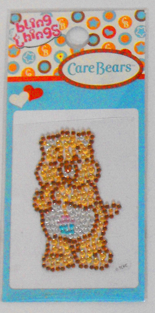 Birthday Care Bear Bling Thing Sticker