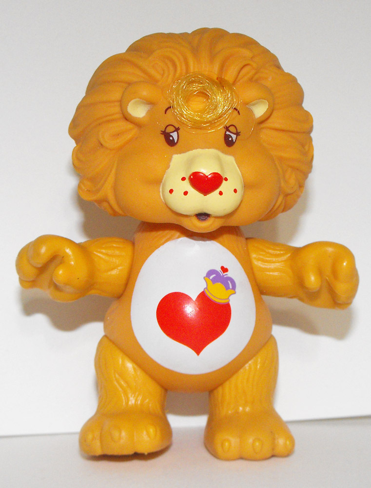 Braveheart Lion Vintage Poseable Care Bear