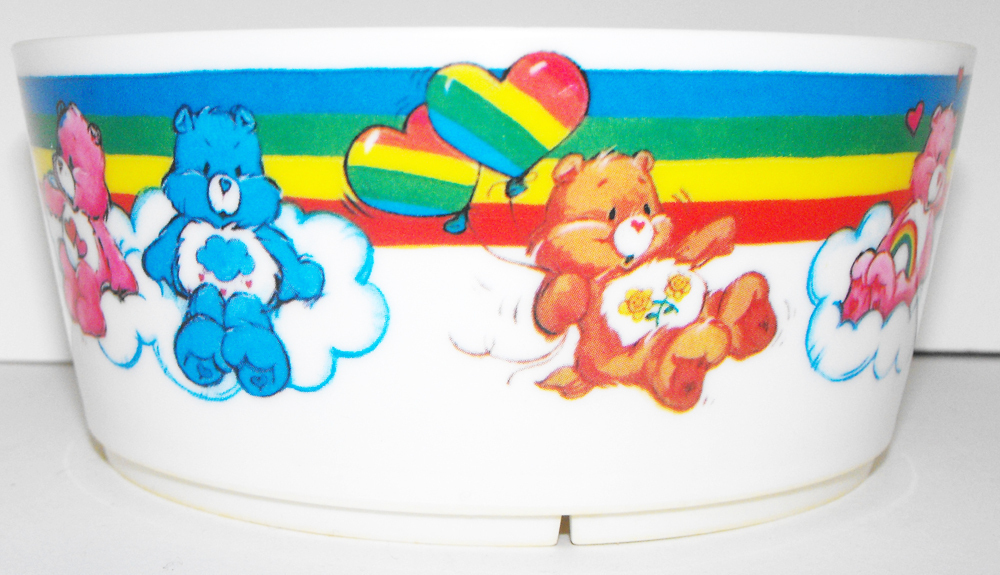 Vintage Care Bear Plastic Food Bowl