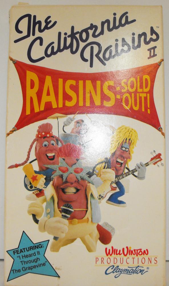 The California Raisins VHS Movie Raisins II