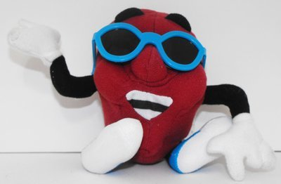 California Raisin Plush in Blue Sunglasses