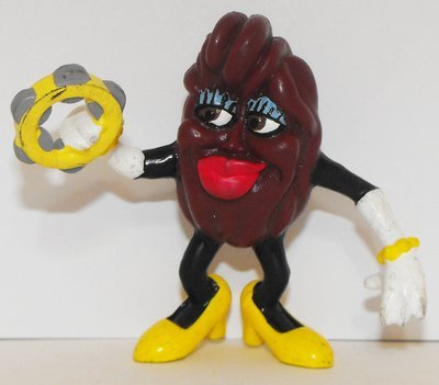 California Raisins Lady Yellow Shoes Figure 3 inch Plastic Figurine