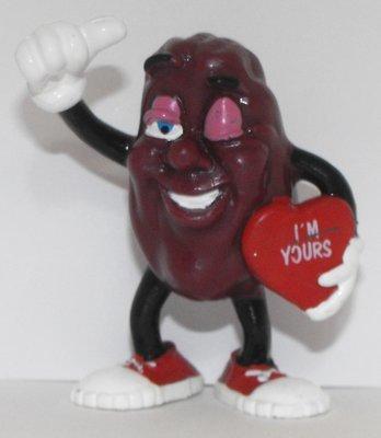 California Raisins Valentine Figure 3 inch Plastic Figurine