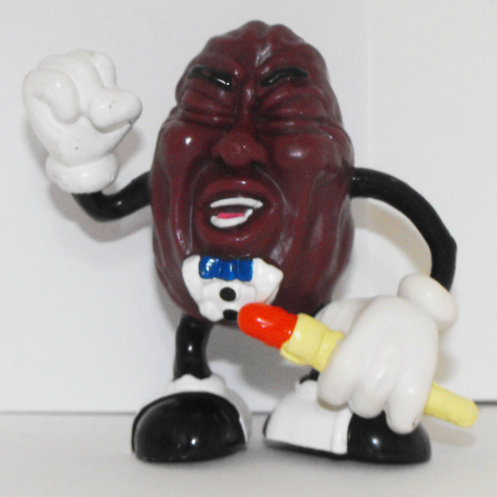 California Raisin Figurine Sing Microphone 3 inch Plastic Figurine