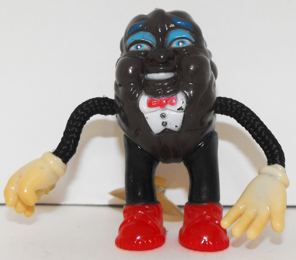 California Raisin On Suction Cup in Tux 3 inch Plastic Figurine