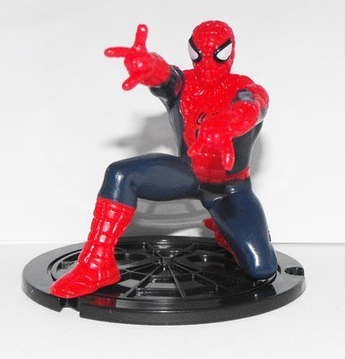 Spiderman Crouching - Part of 6 Comansi Spiderman Figurines that fit together