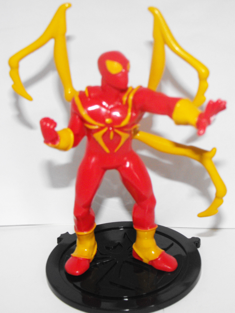 Iron Spider Man - Part of 6 Comansi Spiderman Figurines that fit together