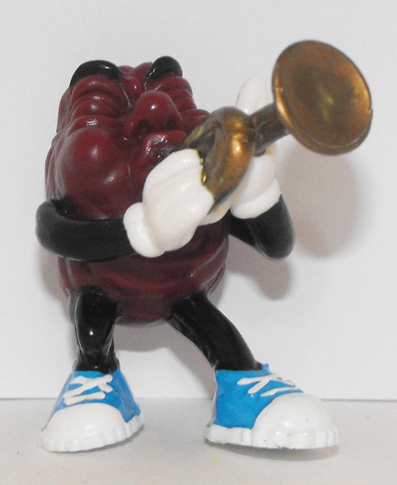California Raisin Sm Figurine with Trumpet 2 inch Plastic Figurine