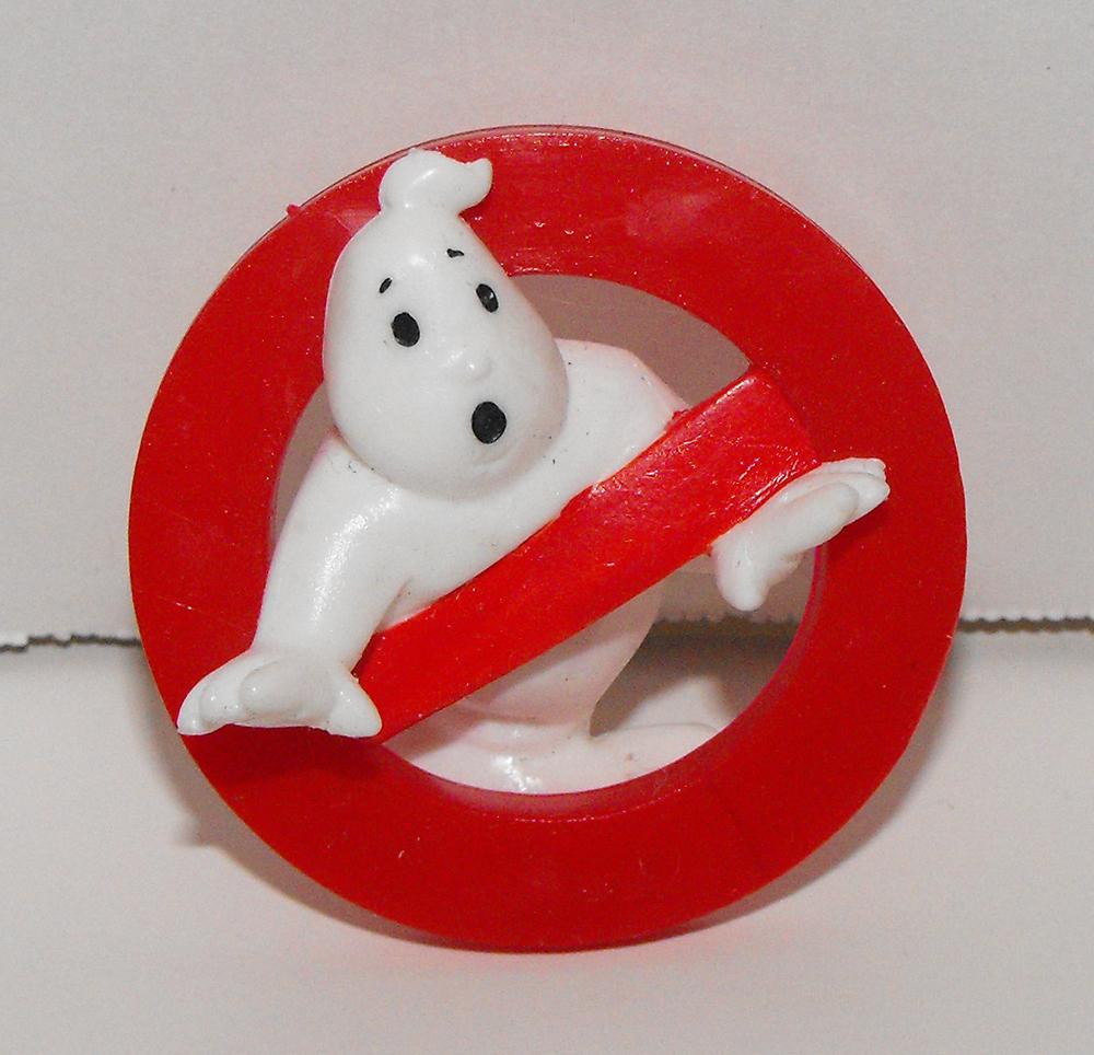 Ghost Busters Logo Vintage Plastic Figurinet