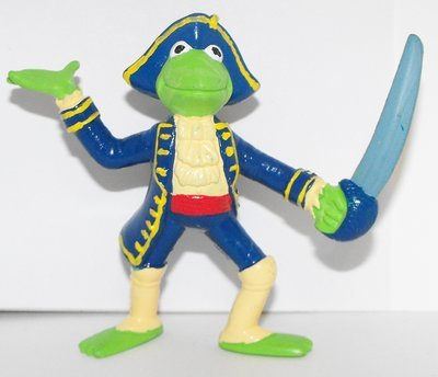 Kermit the Frog Figurine Treasure Island 3 inch Muppets Plastic Figure