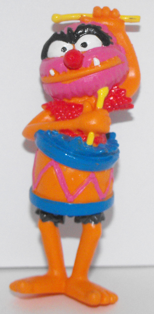 Animal in a Drum 3 inch Muppets Plastic Figurine