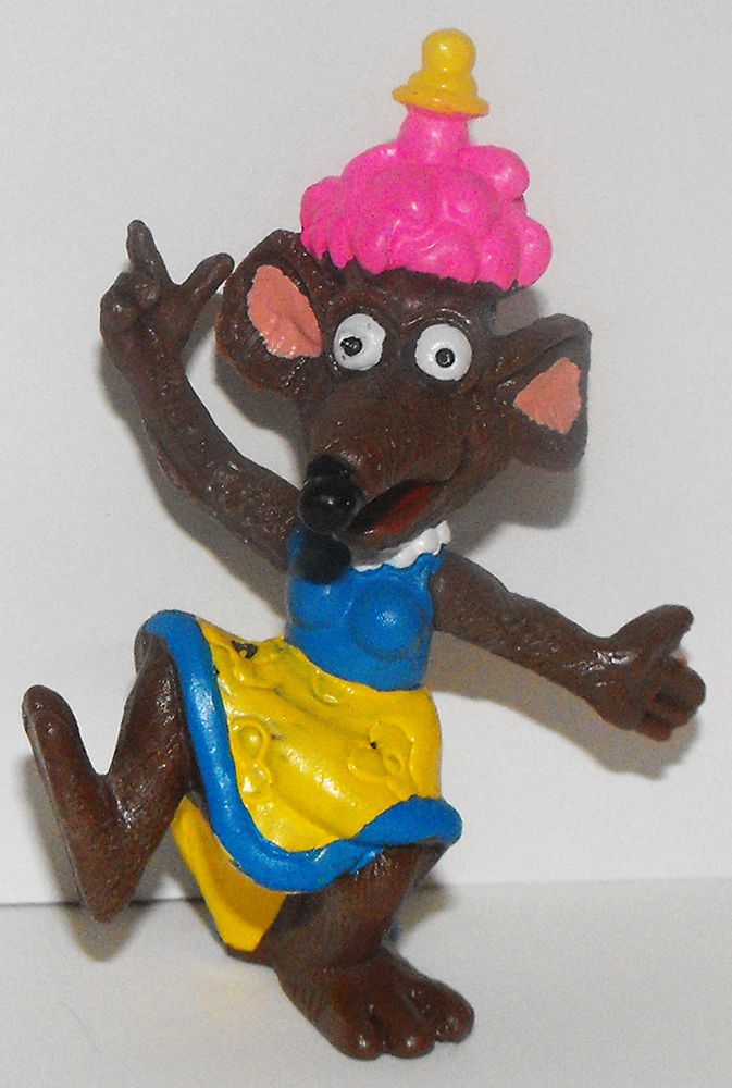 Rizzo Rat Dressed as Girl 2 inch Figurine Muppets Plastic Figure